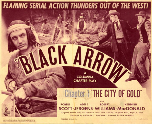 "Title card for Chapter 1 of ""Black Arrow""."