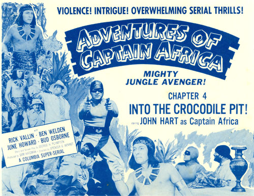"Title Card for ""Adventures of Captain Africa""."