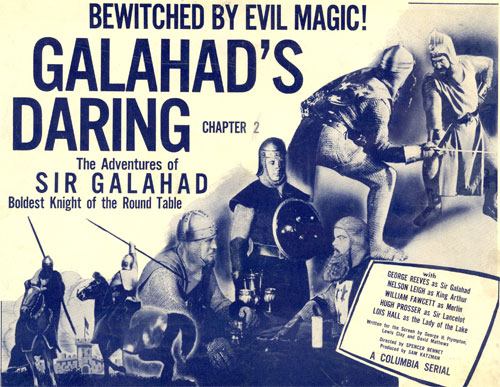 "Title card for Chapter 2 of Adventures of Sir Galahad""."