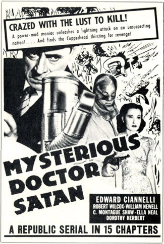 "Ad for ""Mysterious Dr. Satan""."