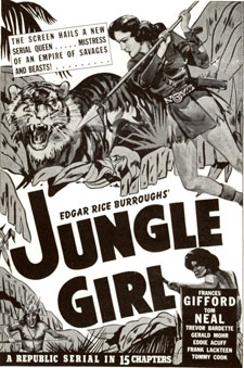 "Poster for ""Jungle Girl"" starring Frances Gifford."