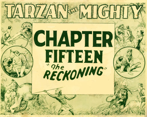 "Title Card for ""Tarzan the Mighty""."