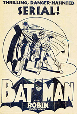 "Ad for ""Batman"" serial."