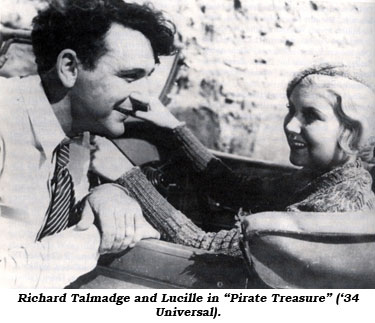"Richard Talmadge and Lucille in ""Pirate Treasure"" ('34 Universal)."