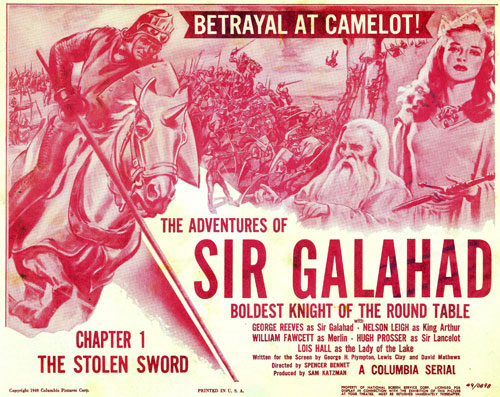 "Title card for Chapter 1 of ""The Adventures of Sir Galahad""."