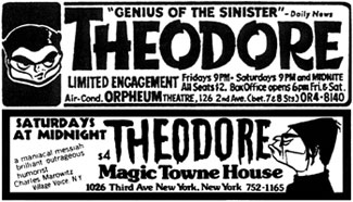 Ads for Theodore appearances.