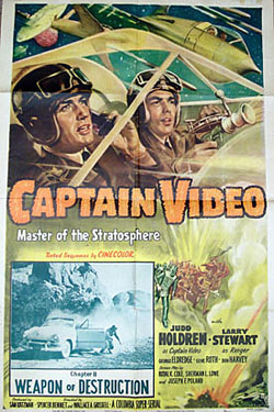 "Poster for ""Captain Video""."