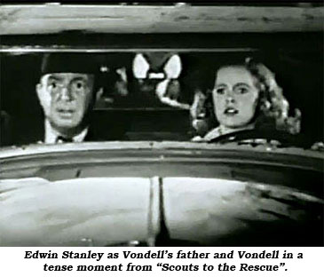 "Edwin Stanley as Vondell's father and Vondell in a tense moment from ""Scouts to the Rescue""."