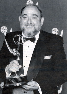 "Larry Stewart as the 1995 receipent of the Syd Cassyd Founders Emmy Award for long and distinguished service to the Academy of Television Arts and Sciences. Stewart was a past president and earlier co-starred in Columbia serials ""Captain Video"" ('51) and ""Black Hawk"" ('52)."
