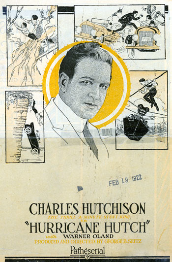 "Charles Hutchinson as ""Hurricane Hutch""."
