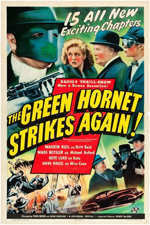 "Poster for ""The Green Hornet Strikes Again!"""