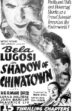"""Shadow of Chinatown"" poster."