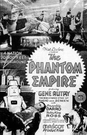 "Theatrical poster for ""The Phantom Empire"" starring Gene Autry."