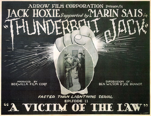"Title Card for ""Thunderbolt Jack"" starring Jack Hoxie."
