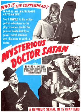 """Mysterious Doctor Satan"" poster."