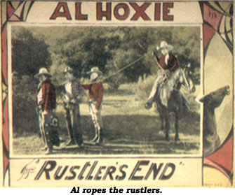 "Al Hoxie in ""Rustler's End""."