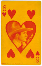 Six of Hearts trading card showing Bob Custer.