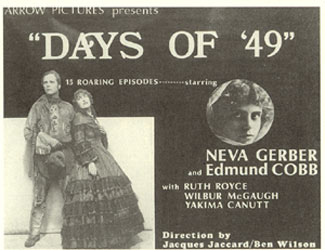 """Days of '49"" poster."