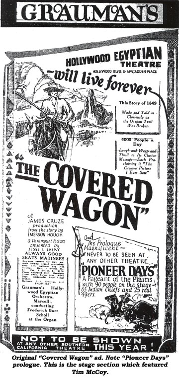 """Covered Wagon"" ad."
