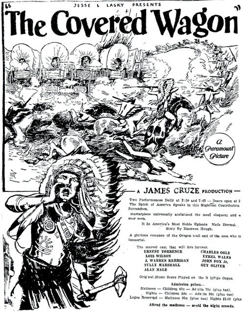 The Covered Wagon ad