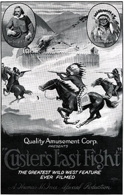 "Poster for ""Custer's Last Fight""."