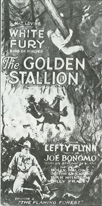 """Golden Stallion"" poster."