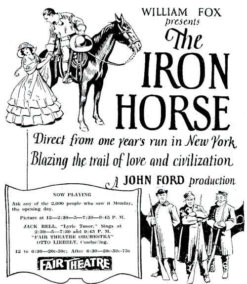 """The Iron Horse"" ad"