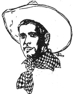 Drawing of Jack Hoxie.