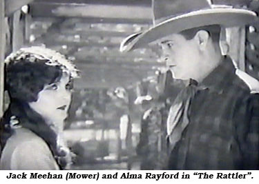 "Jack Meehan (Mower) and Alma Rayford in ""The Rattler""."