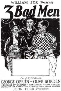 "Newspaper ad for ""3 Bad Men"" ('26)."