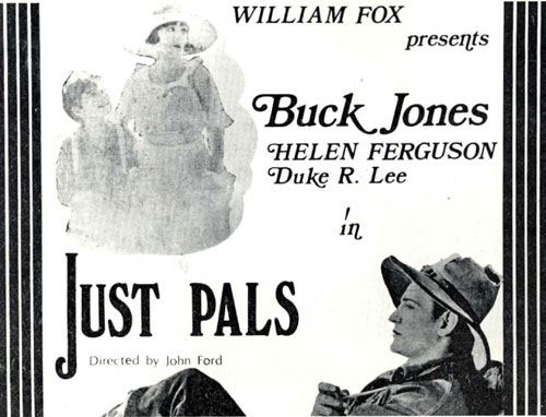 """Just Pals"" starring Buck Jones lobby card."