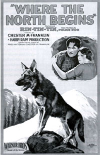"Poster for ""Where the North Begins"" starring Rin Tin Tin."