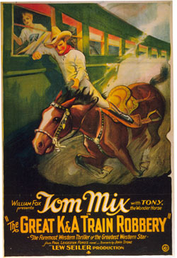"Tom Mix in ""The Great K&A Train Robbery"" ('26)."