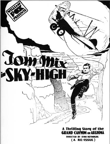 "Newspaper ad for ""Sky High""."