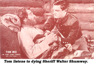 Vending card shows Tom Mix and Walter Shumway