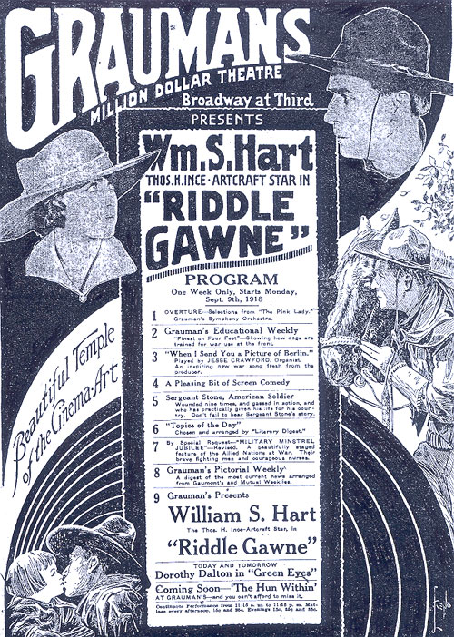 "William S. Hart in ""Riddle Gawne""."