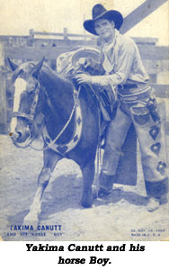 Yakima Canutt and his horse Boy.