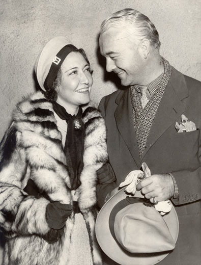 William Boyd with third wife Dorothy Sebastian