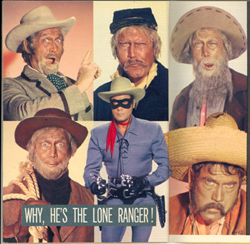 "Clayton Moore resorted to a variety of disguises on his ""Lone Ranger"" TV series. Here's a montage of those disguises."