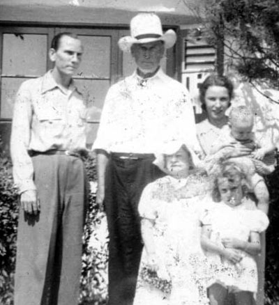 "John F. White is character actor/badman Dan White's grandson and provided the above photo to the b-westerns.com website. (L-R) Dan White, William S. Hart, Dan's wife Tilda holding Curtis (John's father). Standing in front is Nona Cooper, wife of actor Tex Cooper, and John's aunt June. Nona was a munchkin in ""The Wizard of Oz""."