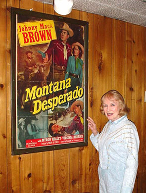 Leading lady Virginia Herrick, my wife Donna and I had dinner at a western themed restaurant in Las Vegas a few years ago and discovered a one-sheet of her hanging on the restaurant wall.