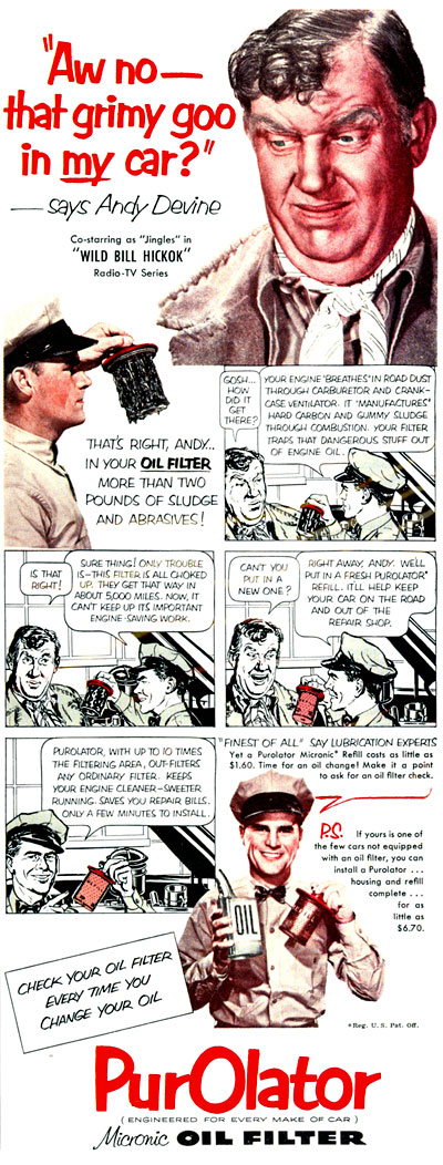 Jingles talks to the PurOlator man in 1952.
