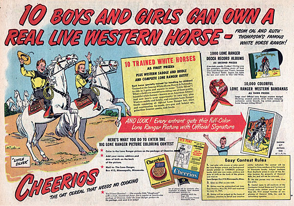 """The Lone Ranger"" and Cheerios were synonymous in the '50s."