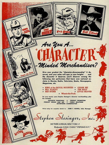 Ad from PLAYTHINGS magazine January 1950. (Thanx to Billy Holcomb.)