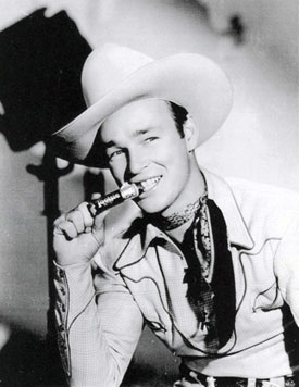 Roy Rogers enjoys a Tootsie Roll.