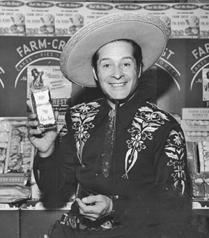 "In some areas ""The Cisco Kid"" starring Duncan Renaldo was sponsored by Farm-Crest Bakeries."