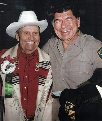 Gene with TV's Sheriff Lobo, Claude Akins.