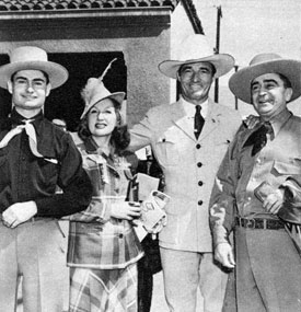 "Tom Mix and others at the ""Virginia City"" premiere. (Other photos from this premiere on Gallery 52.)"