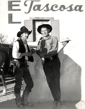 Don Collier (right) was the guest star at a horse race in Brackettville, TX in 1963.
