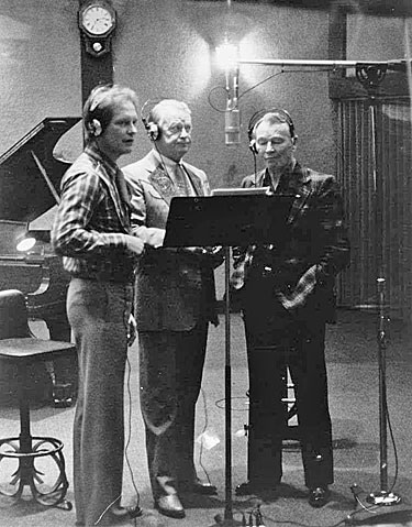 "Rex Allen Jr., Rex Allen and Roy Rogers lay down tracks for ""The Last of the Silver Screen Cowboys"" song which was included on Rex Jr.'s 1982 album ""The Singing Cowboy"" produced by Snuff Garrett."
